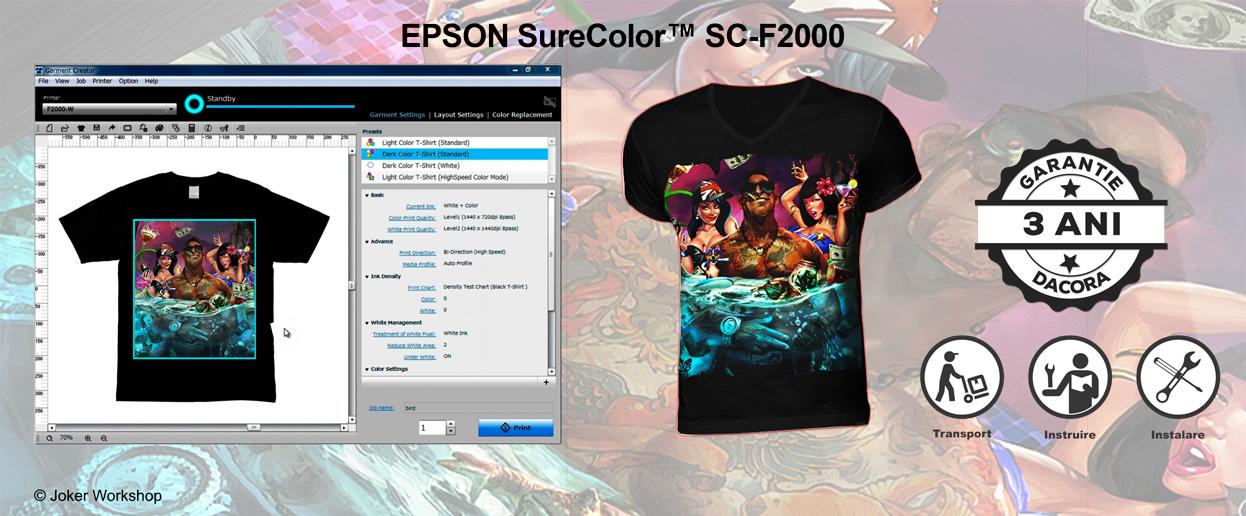 Epson SureColor SC-F2000, garantie de 3 ani, transport, instalare si instruire gratuite