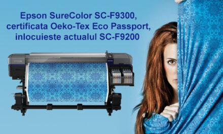 Lansarea noii imprimante cu sublimare Epson SureColor SC-F9300 stabileste noi standarde de performanta pentru imprimarea pe materiale textile